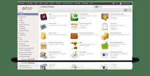 sistema de gestión empresarial Odoo (configurable)