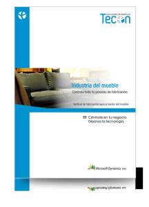 Guía de control y gestión de la industria del mueble