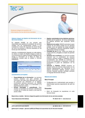 Guía de gestión de sistemas de información para servicios sociales