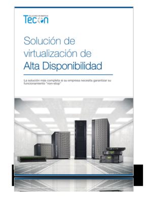 Solución de virtualización de Alta Disponibilidad
