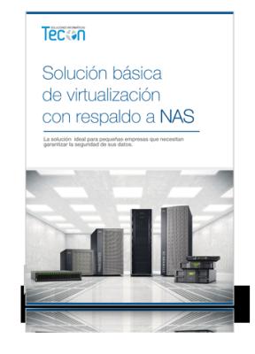 Solución básica de virtualización con respaldo a NAS