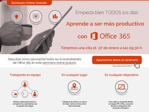 office 365 inscripción a seminario online