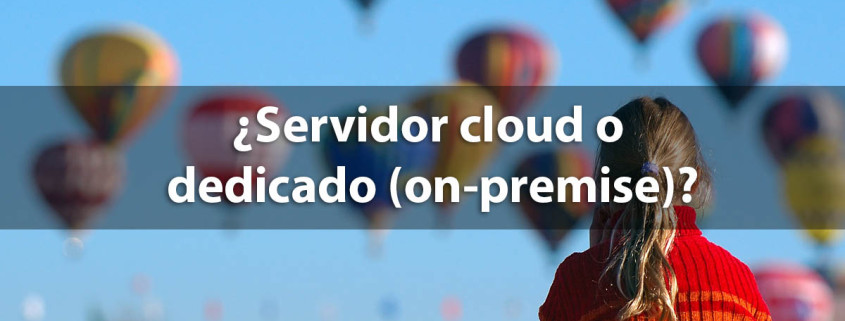 servidor cloud o dedicado on premise
