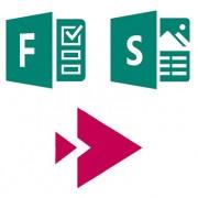 Logos de Forms, Sway y Stream