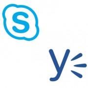 Logos de Skype y Yammer