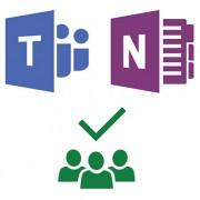 Logos de Team, Planner y OneNote