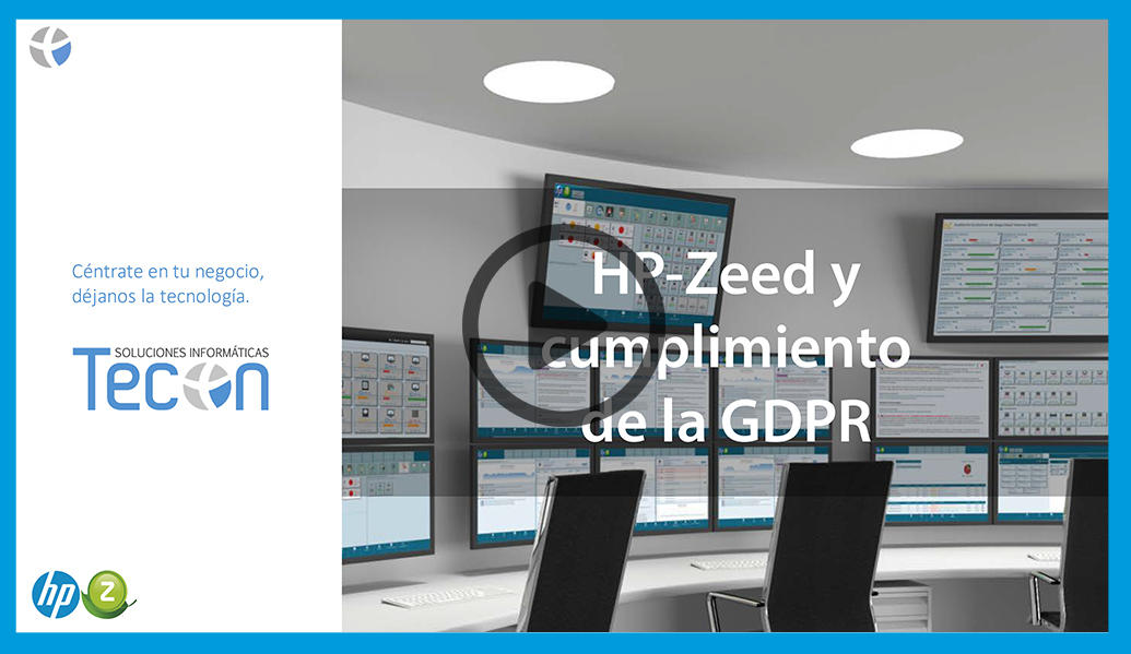 Video HP-Zeed y cumplimiento de la GDPR