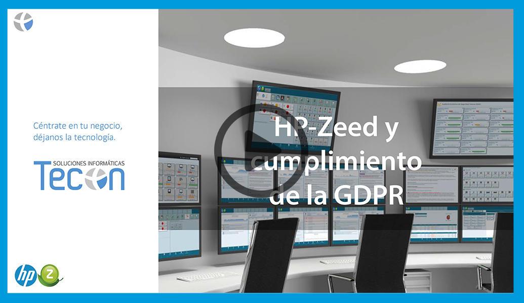 Video HP-Zeed y cumplimiento de la GDPR
