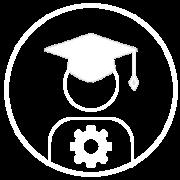 Logo de formación avanzada en blanco