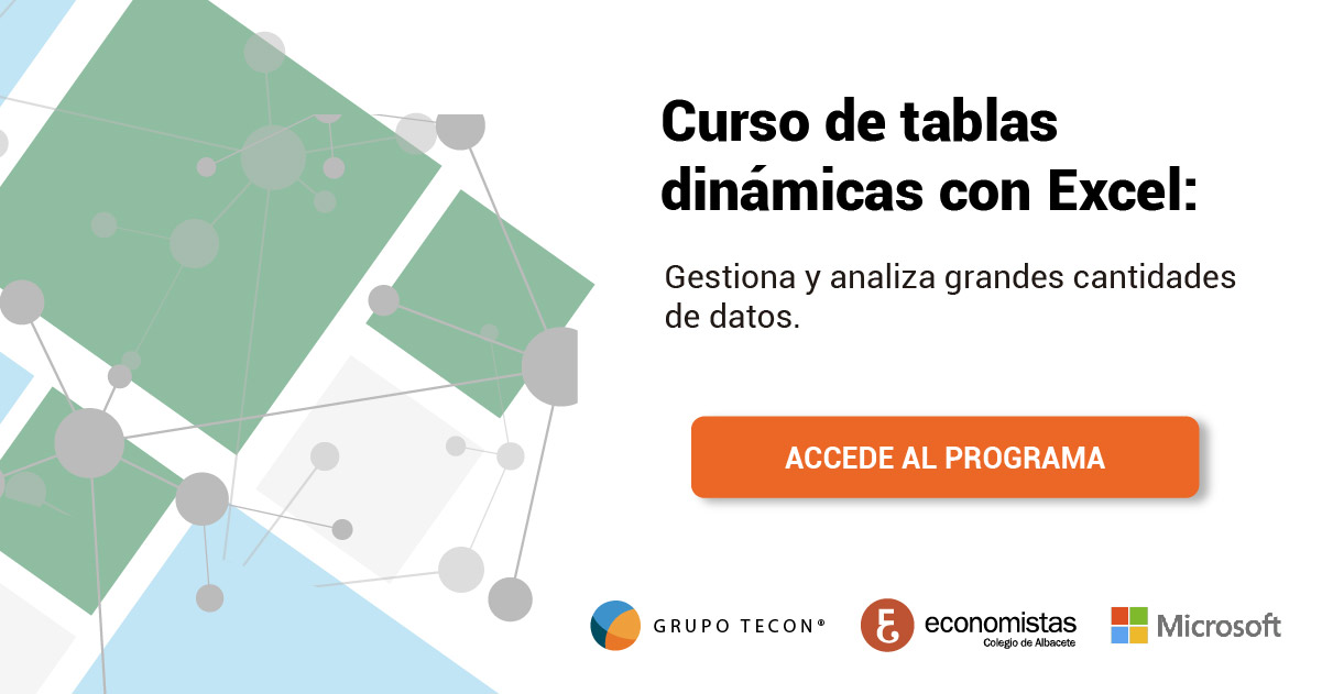 Descarga de guía curso tablas dinámicas con Excel - Tecon