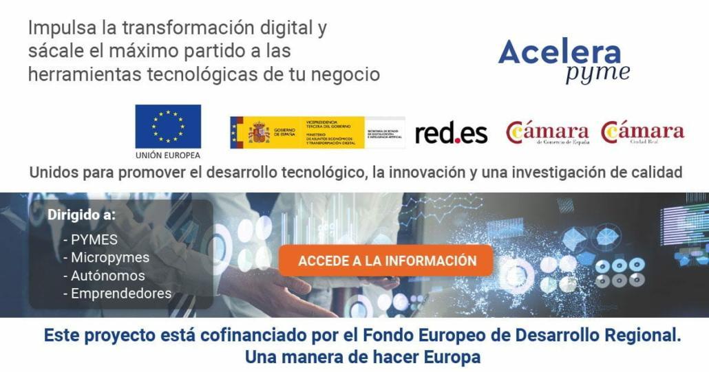 Proyecto Acelera Pyme Cámara de Comercio de Ciudad Real